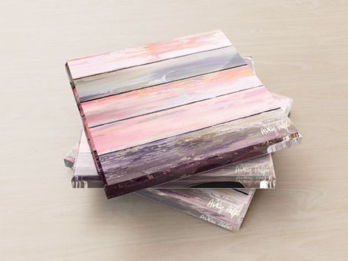 Weathered Paint Pink - Glass Coasters